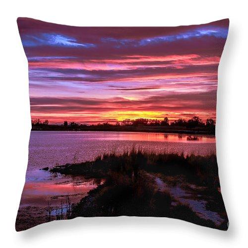Sunset Throw Pillow featuring the photograph Beautiful Evening by Robert Bales