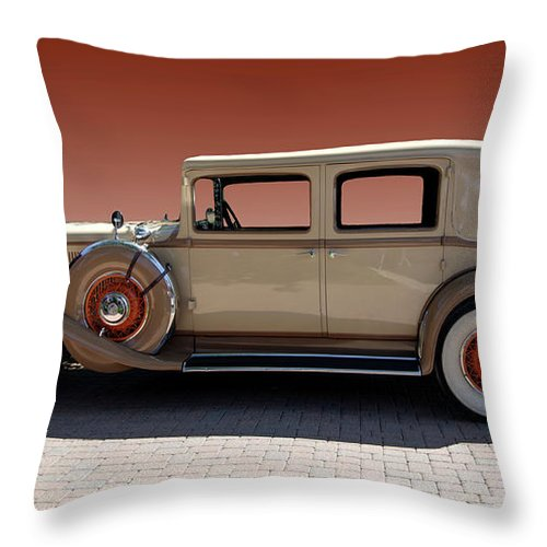 Beautiful Throw Pillow featuring the photograph Beautiful Old Time Travelling Car by Paul Cannon