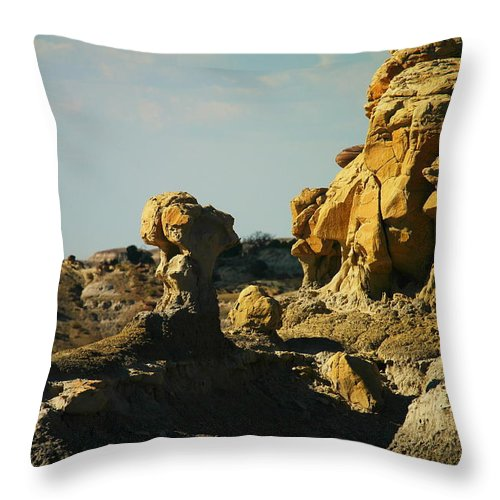 New Mexico Throw Pillow featuring the photograph Beautiful Red Rock by Jeff Swan