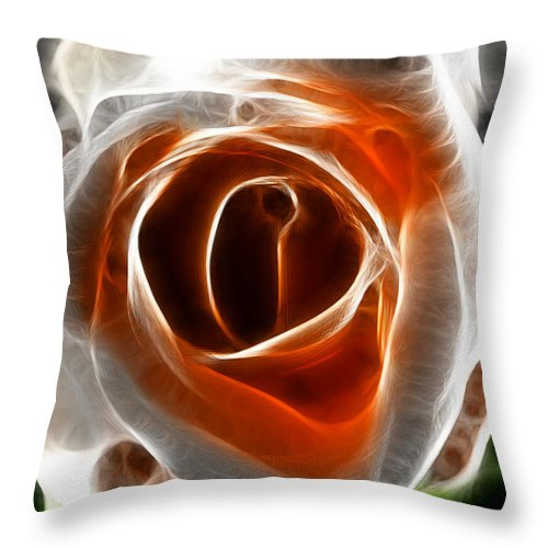 Flower Throw Pillow featuring the photograph Beautiful Rose by Sotiris Filippou