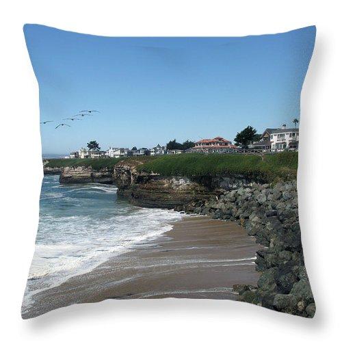 California Throw Pillow featuring the photograph Beautiful Santa Cruz Coast by Christiane Schulze Art And Photography