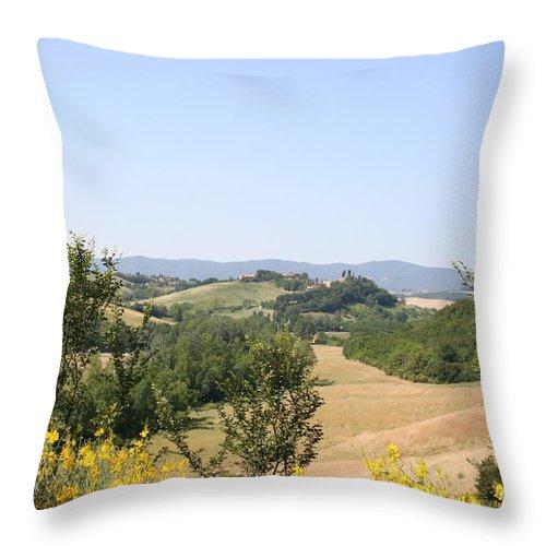 Crete Senesi Throw Pillow featuring the photograph Beautiful Spot - Crete Senesi by Christiane Schulze Art And Photography