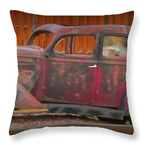 Beautifully Aged Throw Pillow featuring the photograph Beautifully Aged by John Malone