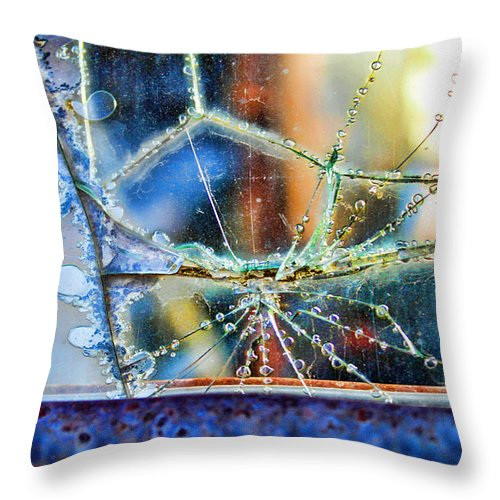 Abstract Art Throw Pillow featuring the photograph Beautifully Broken by Sylvia Thornton
