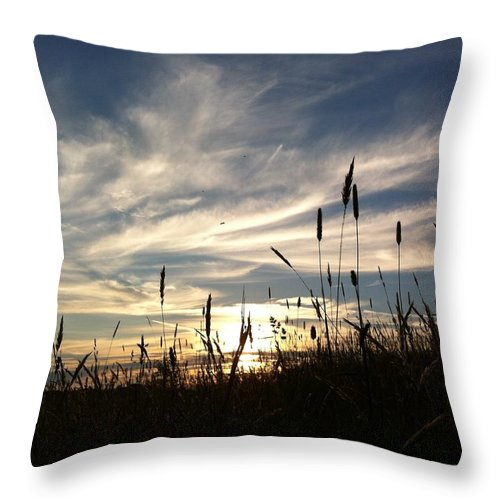 Sunset Throw Pillow featuring the photograph Beauty In The Sky by Jennifer Westlake