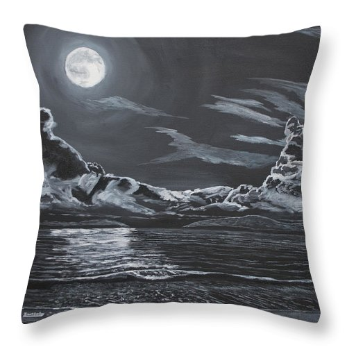 Night Throw Pillow featuring the painting Beauty Of The Night by Ian Donley