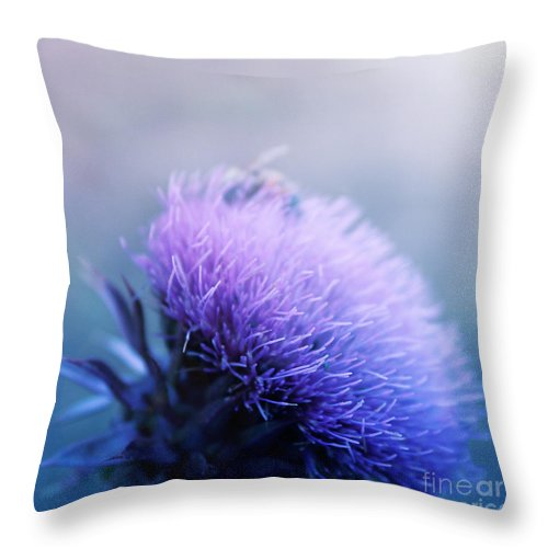 Bee Throw Pillow featuring the photograph Bee-utiful by Trish Mistric