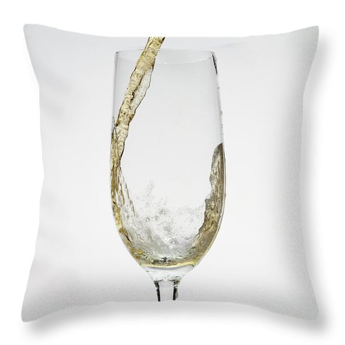 Alcohol Throw Pillow featuring the photograph Beer Being Poured Into A Glass by Dual Dual