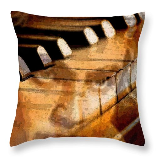 Classical Music Throw Pillow featuring the digital art Beethoven by John Vincent Palozzi