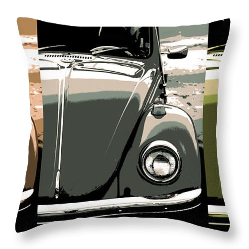 Vw Throw Pillow featuring the photograph Beetles by Gordon Dean II