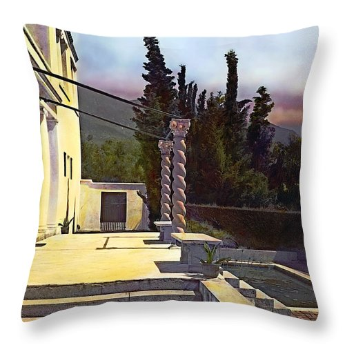 Tranquil Throw Pillow featuring the photograph Before Nightfall by Terry Reynoldson