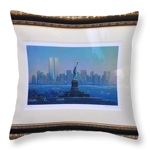 911 Throw Pillow featuring the photograph Before Nine Eleven by Jay Milo