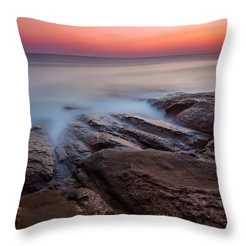 Sea Throw Pillow featuring the photograph Before The Sun by Evgeni Ivanov
