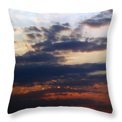 Behold The Dawn Throw Pillow featuring the painting Behold The Dawn by Ellen Henneke