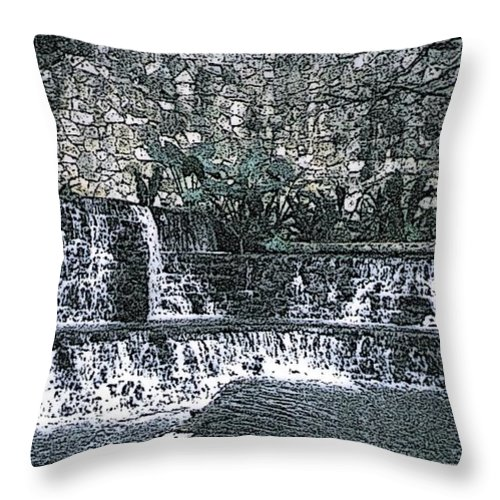 Waterfall Throw Pillow featuring the photograph Behold The Waterfall by Pharris Art