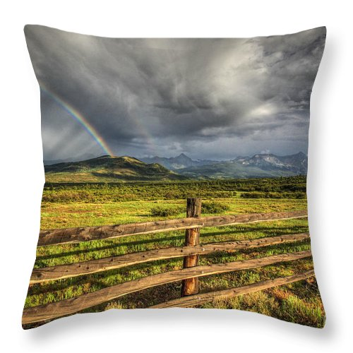 Rainbow Throw Pillow featuring the photograph Believe by Cheyenne L Rouse