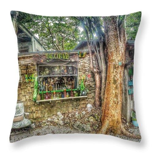 Florida Throw Pillow featuring the photograph Believe by Erik Kaplan