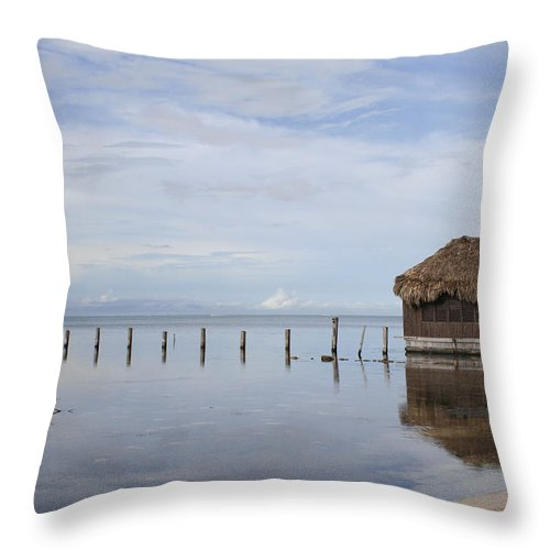 Belize Throw Pillow featuring the photograph Belize by Debby Richards
