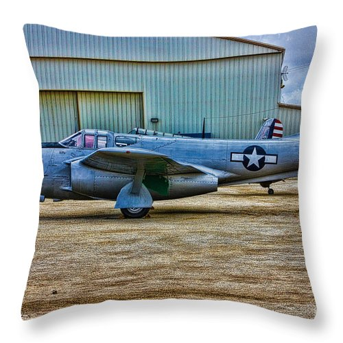 Bell Throw Pillow featuring the photograph Bell P-59 Airacomet by Tommy Anderson