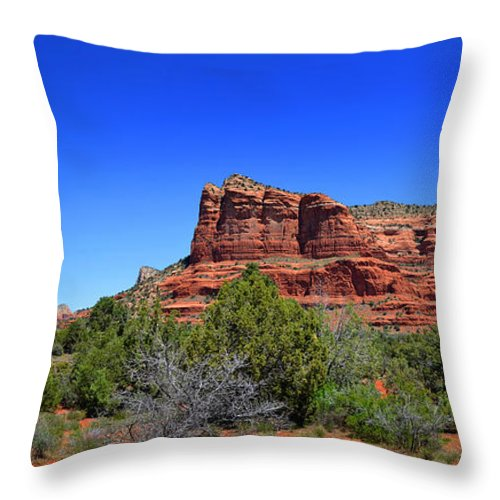 Bell Rock Throw Pillow featuring the photograph Bell Rock by Paul Mashburn