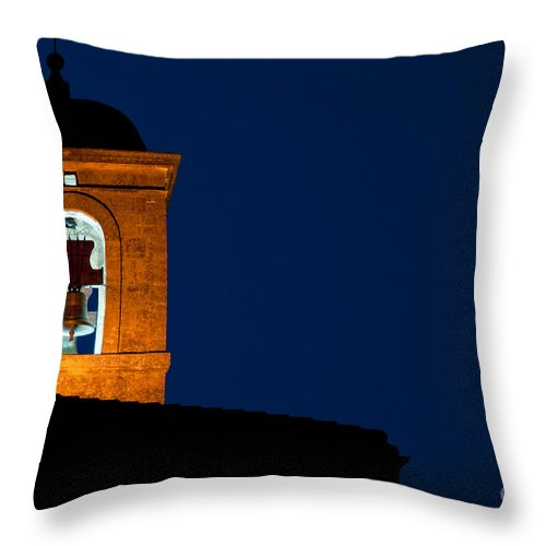 Lacoste Throw Pillow featuring the photograph Bell Tower by Bob Phillips