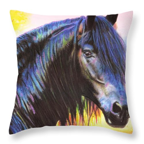 Bella Throw Pillow featuring the mixed media Bella by Wendie Busig-Kohn