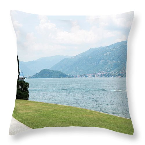 Tranquility Throw Pillow featuring the photograph Bellagio, Lake Como, Lombardy, Italy by Tim E White
