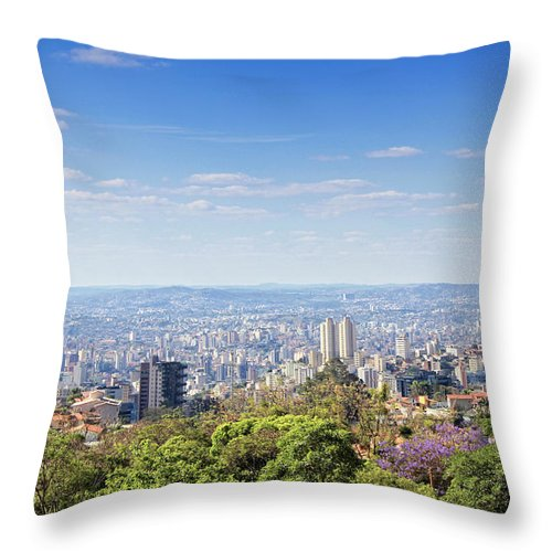 Tranquility Throw Pillow featuring the photograph Belo Horizonte by Antonello