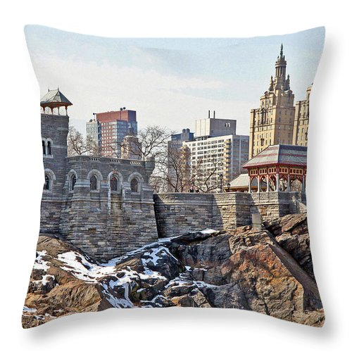 Castle Throw Pillow featuring the photograph Belvedere Castle by Andre Aleksis