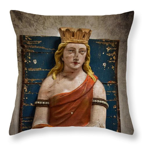 Queen Throw Pillow featuring the photograph Beneath Her Spell by K Hines