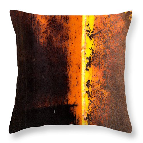 Rust Throw Pillow featuring the photograph Beneath The Shield by The Artist Project