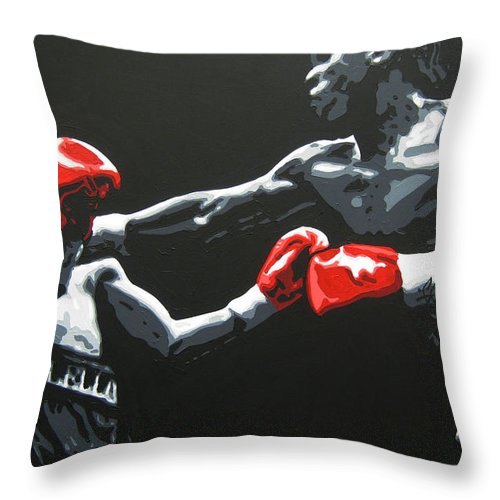 Benn Throw Pillow featuring the painting Benn V Mcclellan by Geo Thomson