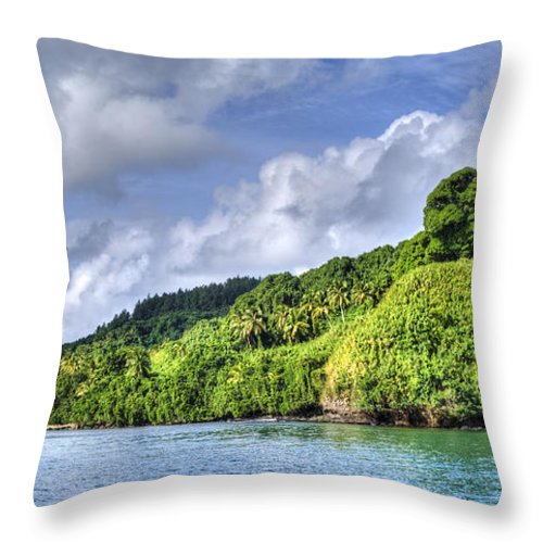 Island Throw Pillow featuring the photograph Beqa Island - Fiji by Dianne Phelps