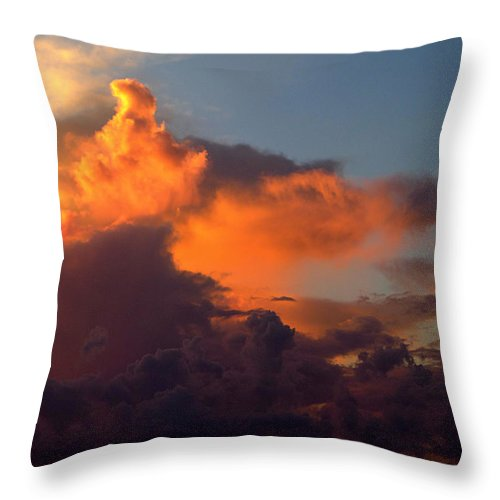 Bermuda Throw Pillow featuring the photograph Bermuda Clouds by Richard Reeve
