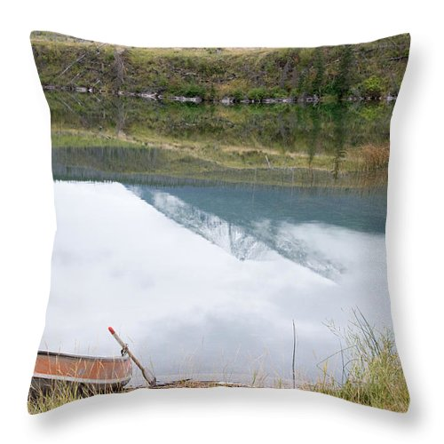 Nature Throw Pillow featuring the photograph Beside The Lake by Angela Patterson