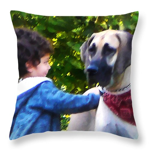 Dog Throw Pillow featuring the photograph Best Friends by Susan Savad