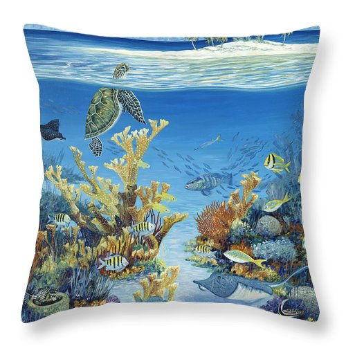 Reef Throw Pillow featuring the painting Best of Both Worlds by Danielle Perry