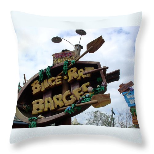 Islands Of Adventure Throw Pillow featuring the photograph Best Water Ride In Florida by David Nicholls