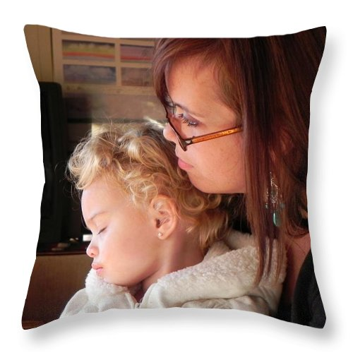 Forest Throw Pillow featuring the photograph Between Heartbeats by Leah Moore