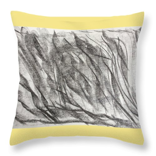Lines Throw Pillow featuring the drawing Between The Lines by Arthur Right