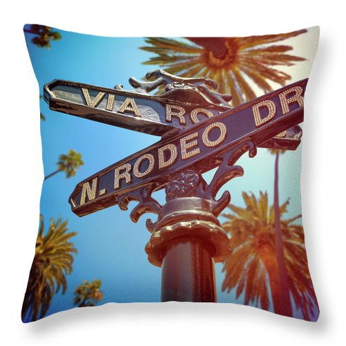 Beverly Hills Throw Pillow featuring the photograph Beverly Hills California by Lpettet