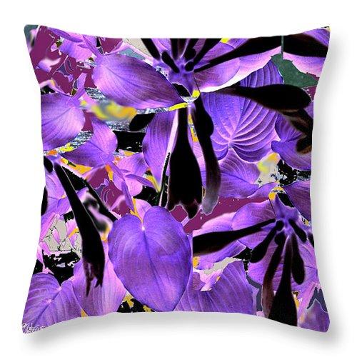 Beware The Midnight Garden Throw Pillow featuring the digital art Beware The Midnight Garden by Seth Weaver