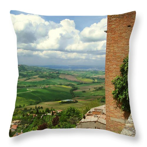 Beyond The Rooftops Throw Pillow featuring the photograph Beyond The Rooftops 2 by Ellen Henneke