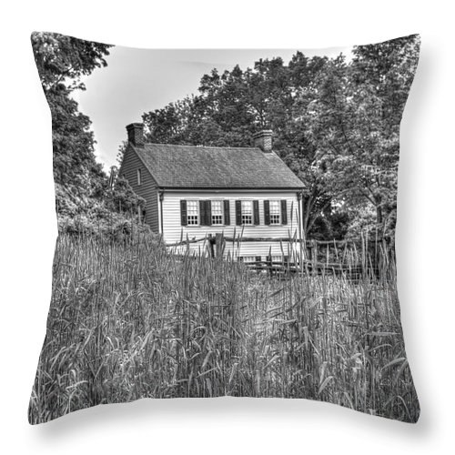 House Throw Pillow featuring the photograph Beyond The Wheat Farm by Diego Re