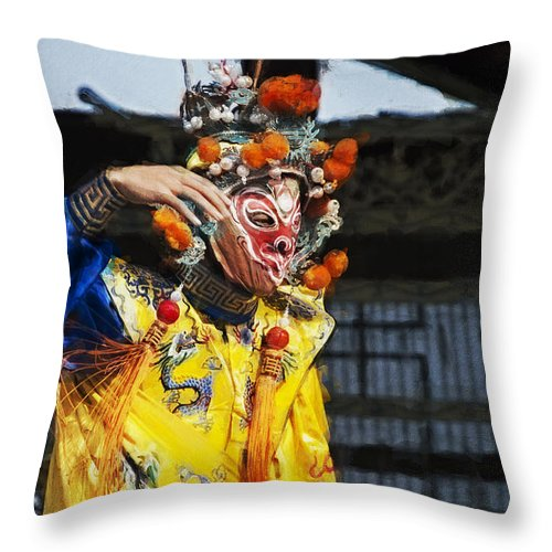 Bian Jiang Throw Pillow featuring the digital art Bian Jiang Dancer Neo Hp by David Lange