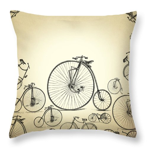 Bicycle Throw Pillow featuring the digital art Bicycle by Mark Ashkenazi