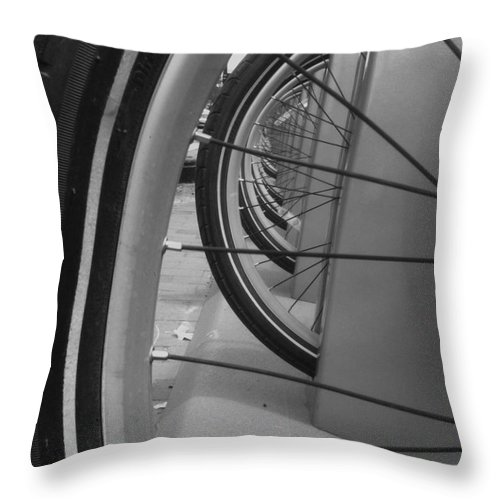Bike Throw Pillow featuring the photograph Bicycle Tires..... by WaLdEmAr BoRrErO