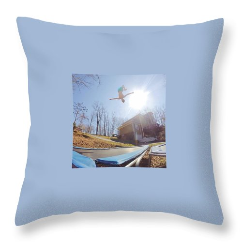 Gopro Throw Pillow featuring the photograph Big Air by Eric Decker