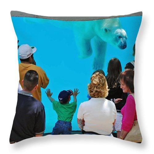 Polar Bear Throw Pillow featuring the photograph Big Bear by Rick Selin