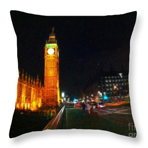 London Throw Pillow featuring the photograph Big Ben - London by Doc Braham